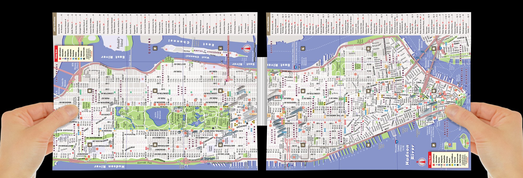 Street Map Of New York City.Pop Up Nyc Map By Vandam City Street Map Of New York City New