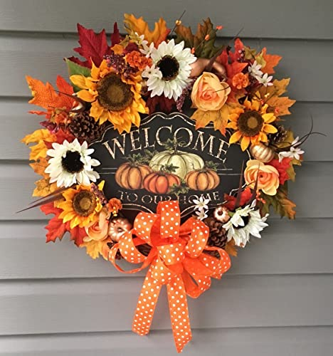 Image result for autumn wreath welcome