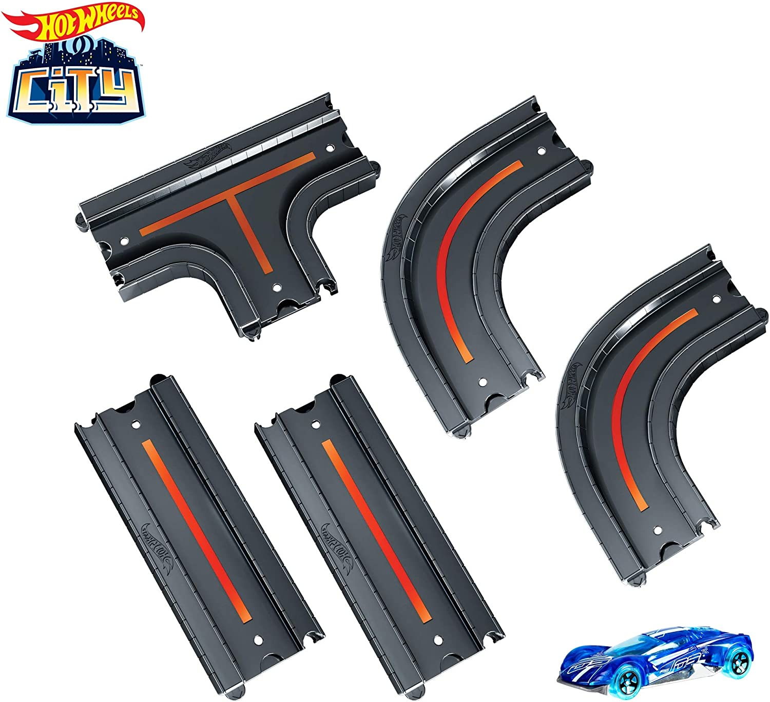 Hot Wheels - HW City Track Pack Bundle (Mattel Gcf93) , color ...