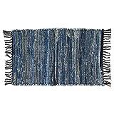2 Denim Chindi Doorway Rag Rugs 100% Cotton