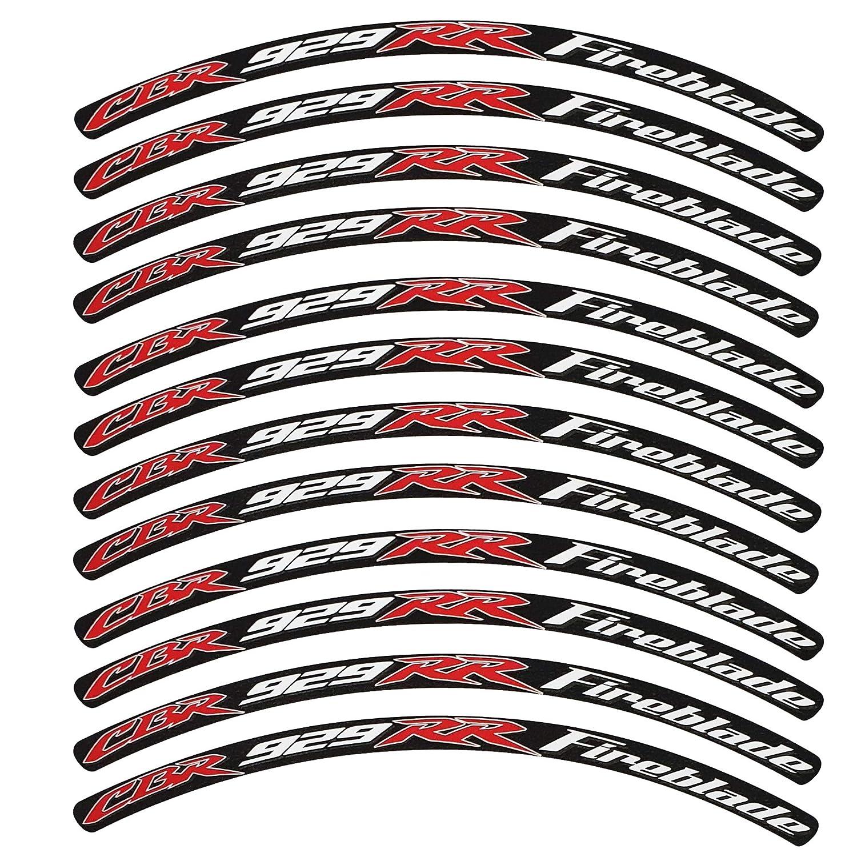 12 Unidades de Estilo 1 Twisted Melon Pegatinas para llanta CBR 929 RR FIREBLADE 1000 RR