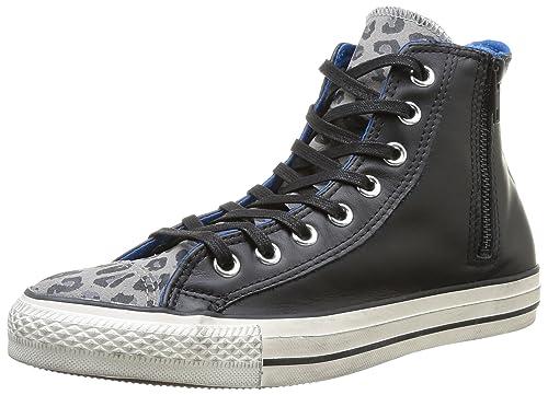 Converse A/S Hi Side Zip Lea/Sued Print - Zapatillas: Amazon.es: Zapatos y complementos