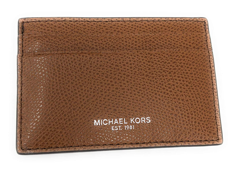 ee8ad9b58e Amazon.com: Michael Kors Men's Warren Leather Card Case Money Clip Mini  Wallet Luggage: SHOE LAWYER