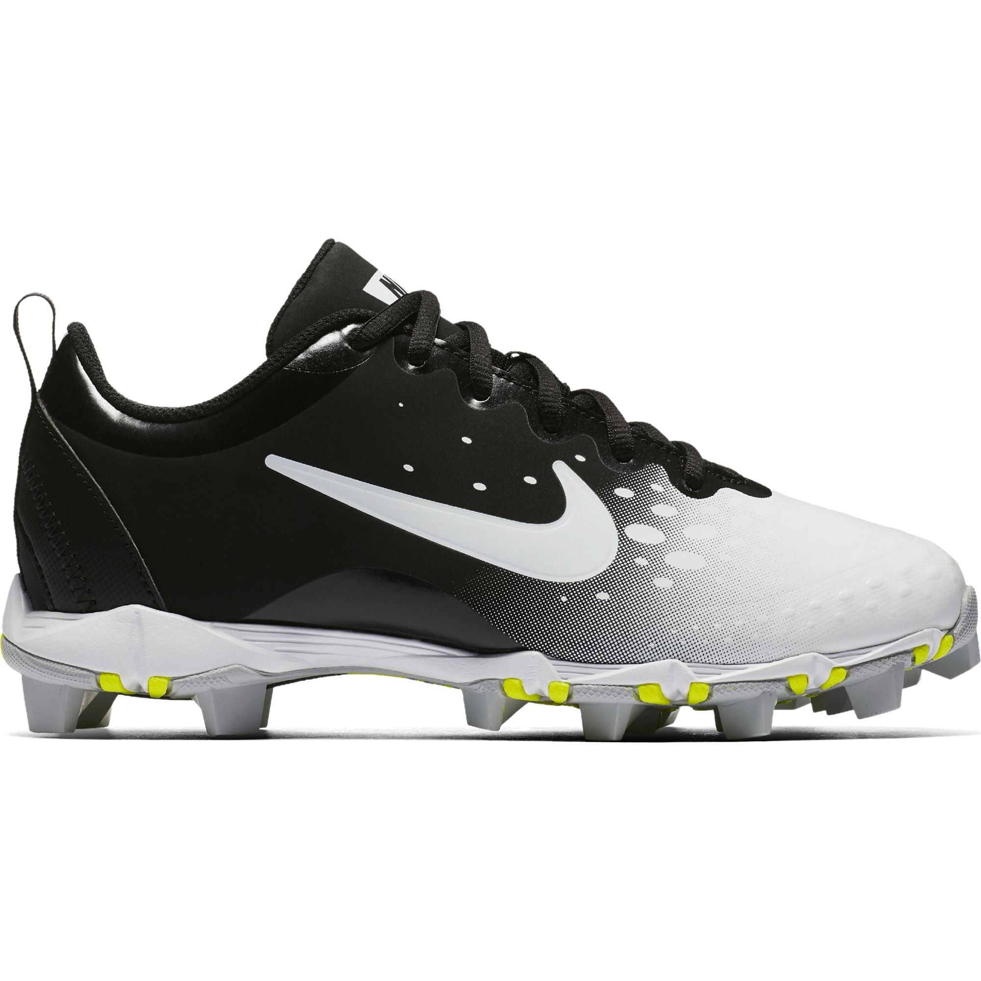 Nike Girl's Hyperdiamond 2 Keystone Softball Cleat Black/White/Wolf Grey Size 11 Kids US by Nike