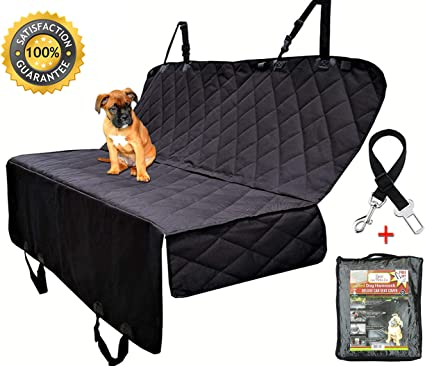 Dog Seat Cover - Extra Large Heavy Duty Hammock - Universal Pet Seats Covers  For Cars, Trucks & SUV's - Waterproof with Side flaps & A Free Safety Seat  Belt: Amazon.co.uk: Pet