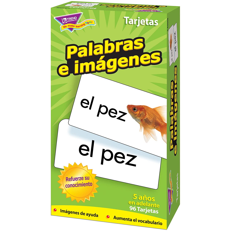Amazon.com: TREND ENTERPRISES INC. FLASH CARDS PALABRAS E 96/BOX (Set of 12): Home & Kitchen