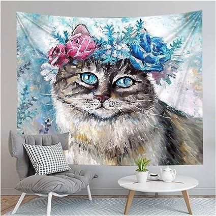 Chenhan Tapiz Animal Gato Perro Impreso Yoga tapete Arte ...