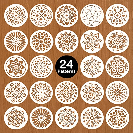 Made in USA STENCIL Mylar 5.0 inch Round clock with hole in center Art Paint Quilt L1721