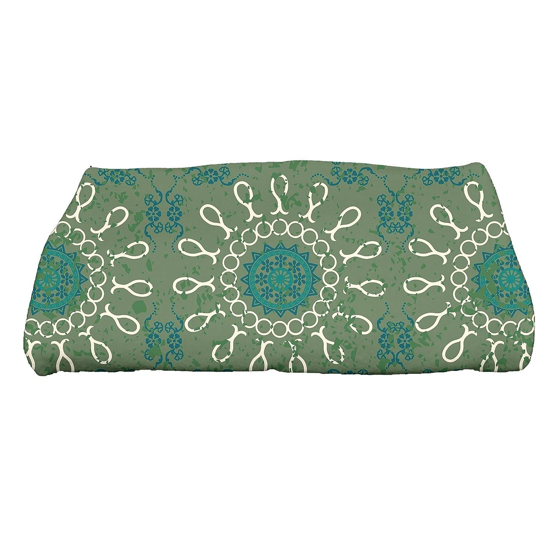 KESS InHouse Nandita Singh Blue Motifs Aqua Geometric Queen Comforter 88 X 88