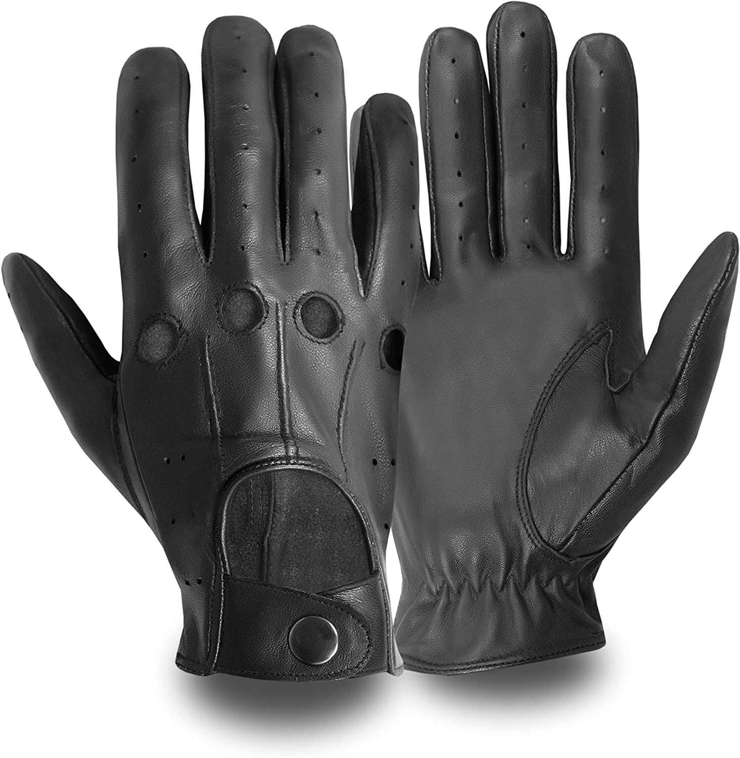 UNLINED 507 Kango Fitness MENS CLASSIC DRIVING GLOVES CHAUFFEUR LAMBSKIN LEATHER DRESS FASHION MOTOR BIKE GLOVE VINTAGE STYLE