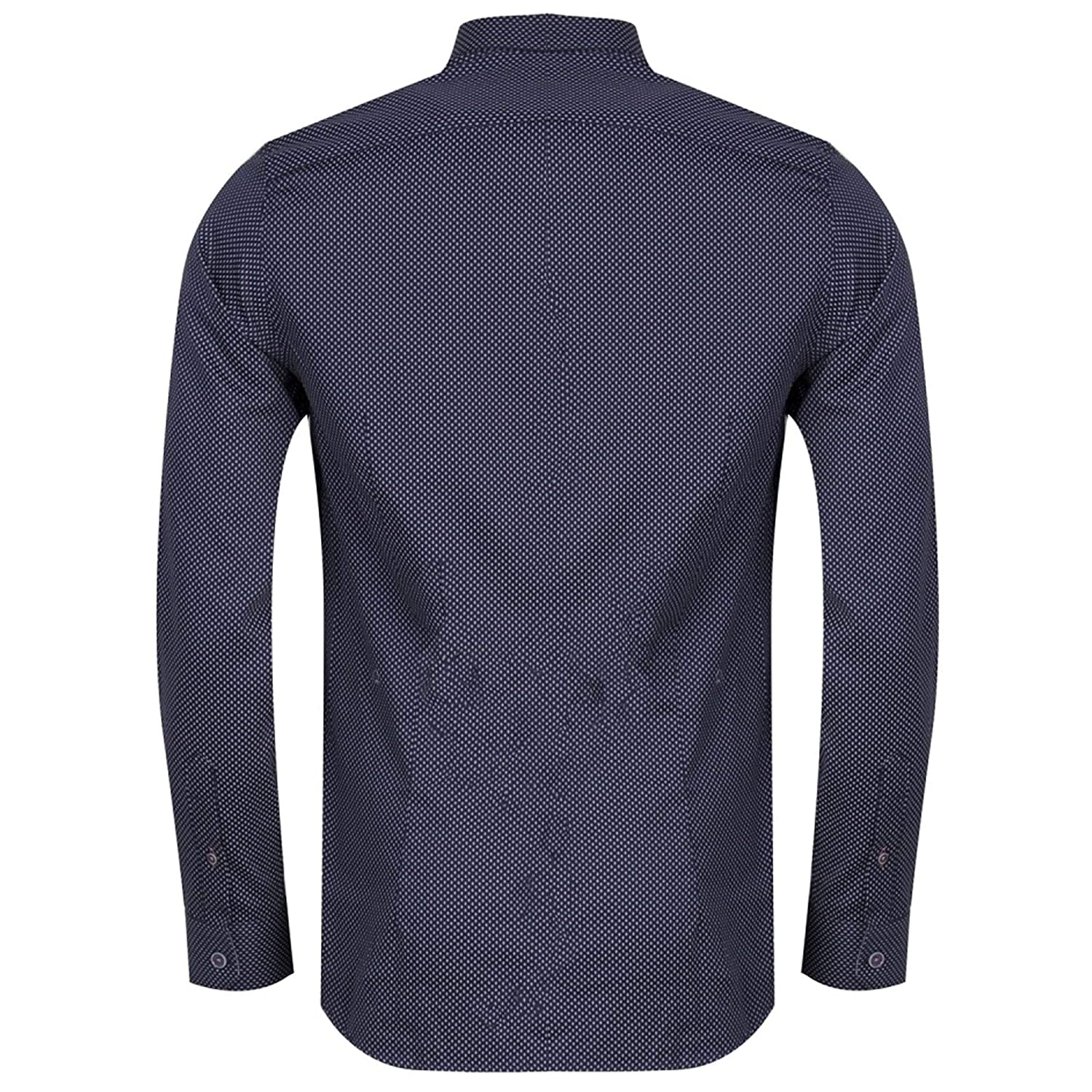 59e25357d6122 Ted Baker Boomtwn L S Micro Geo Printed Shirt Navy Small (TED Size 2)   Amazon.co.uk  Clothing