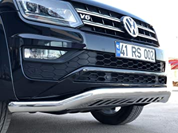 VW AMAROK CHROME SPOILER BAR BULL BAR NUDGE GRILL GUARD CITY GUARD 2010-2016