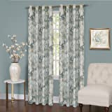 """Achim Home Furnishings Tranquil Lined Grommet Window Curtain Panel, 50"""" x 84"""", Mist"""