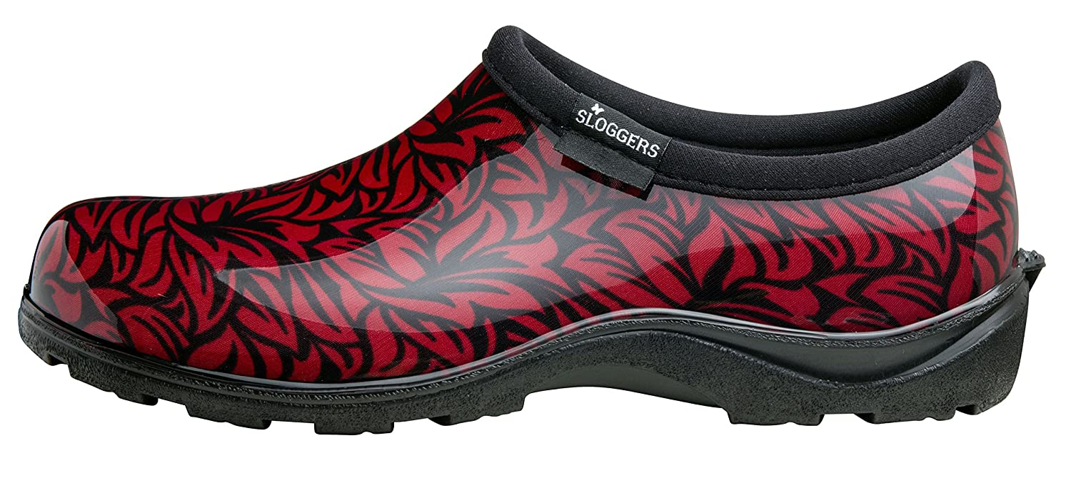 Sloggers Women's Waterproof  Rain and Garden Casual Shoe with Comfort Insole, Casual Garden Floral Dark Red, Size 7, Style 5117FLR07 B01H7X98MS 7|Casual Floral Dark Red 83f6ec