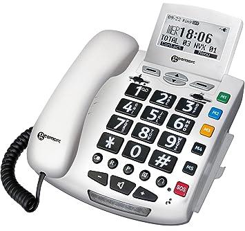 Geemarc SERENITIES Téléphone filaire Amplifié +30 db avec Bracelet d appel  d urgence 133fdb482d74