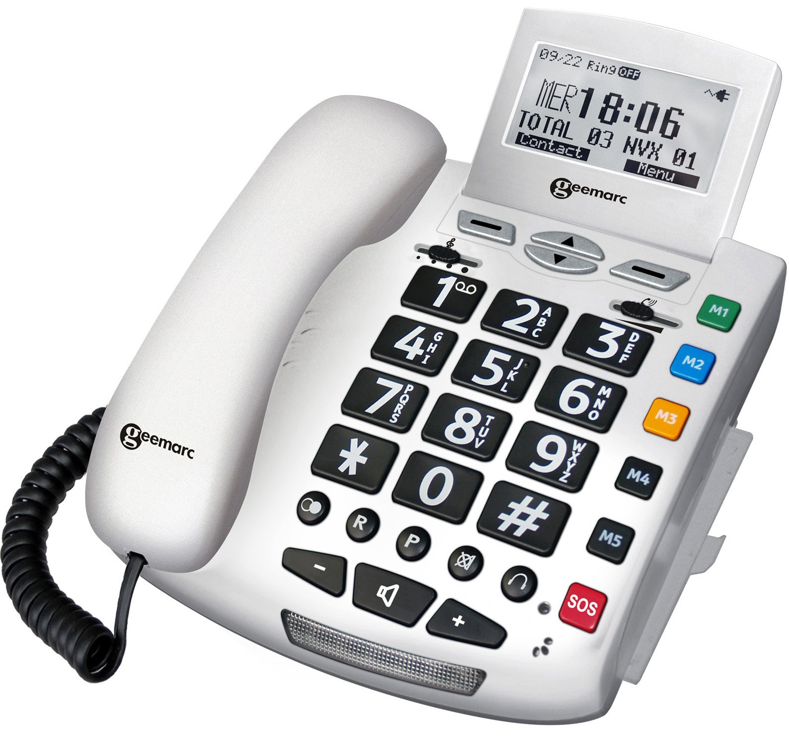Geemarc Serenities Emergency Response Telephone with Remote Control - White