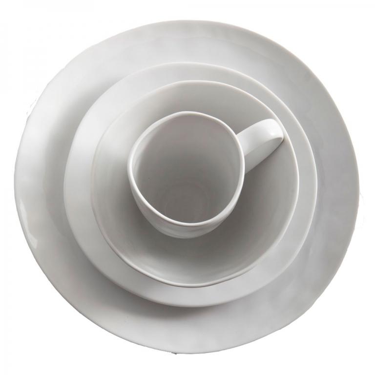 Sculptured Dishware - 16 piece set white