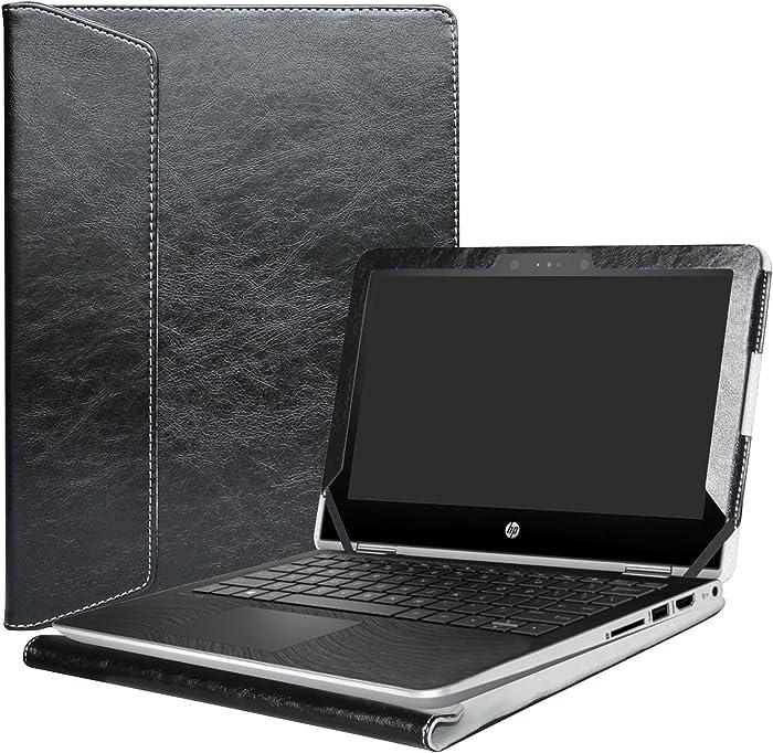 """Alapmk Protective Case Cover for 11.6"""" HP Pavilion x360 11 11M-adXXX 11-adXXX 11M-AD013DX Series Laptop(Warning:Not fit Pavilion x360 11 11-kXXX 11-uXXX 11-nXXX Series),Black"""