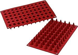 Silikomart SF131/C Silicone Classic Collection Mold Shapes, Mini Cones