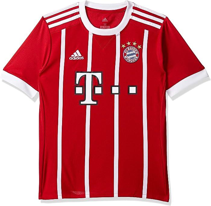 adidas 2017-2018 Bayern Munich Home Football Soccer T-Shirt Jersey (Kids)