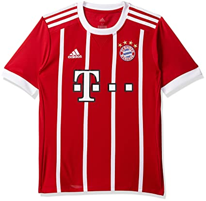 07d79b25c Amazon.com : adidas FC Bayern Munich 2017/18 Home Shirt Jnr PRE ...