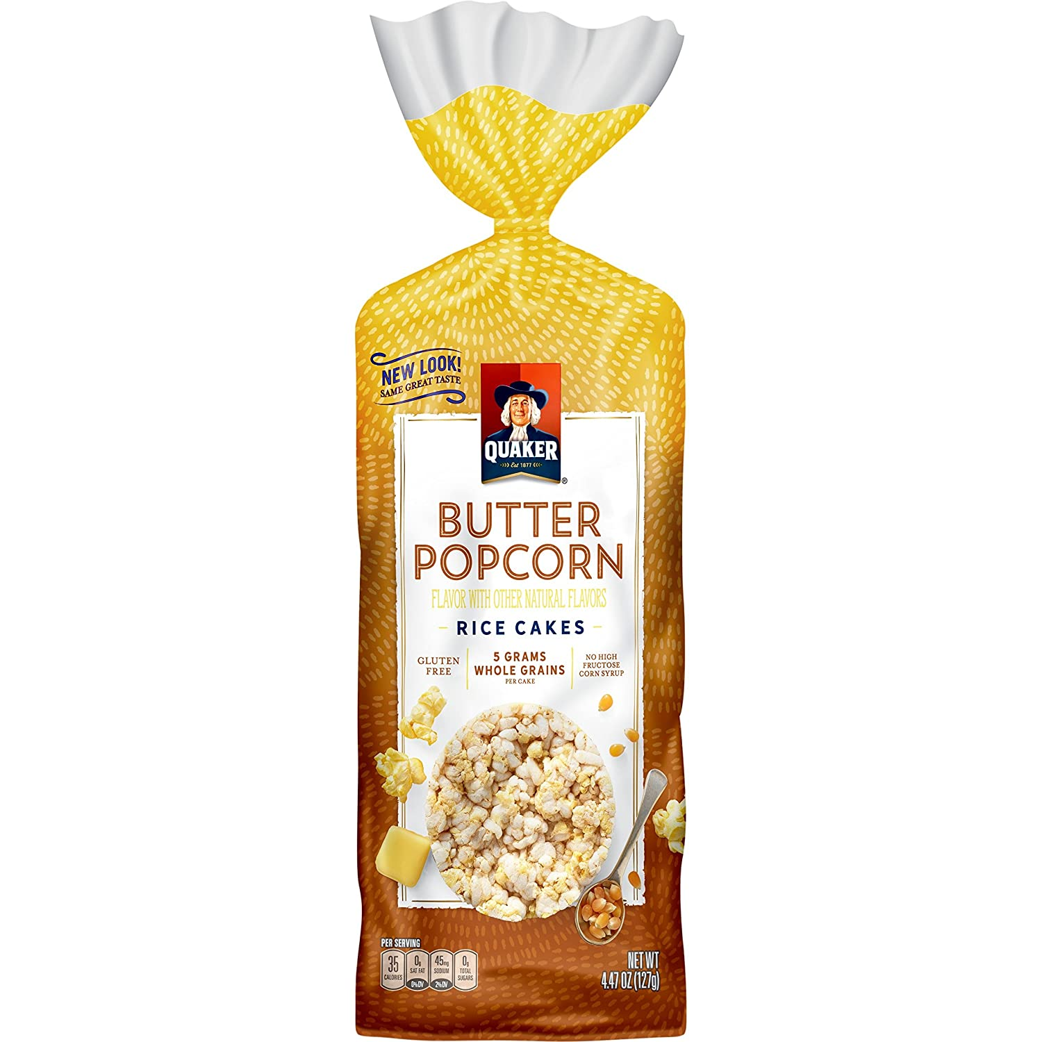 Quaker Buttered Popcorn Rice Cakes 4 47 Oz Amazon Com Grocery Gourmet Food