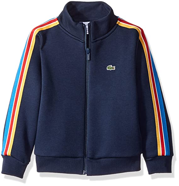 96d12fd1cde454 Amazon.com  Lacoste Boy Zipped Athleisure High Collar Sweatshirt  Clothing