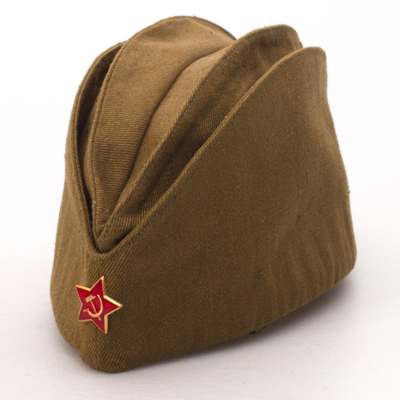 Amazon.com  Russian Armed Forces Side Cap Pilotka Khaki  Everything Else 9d11535c816