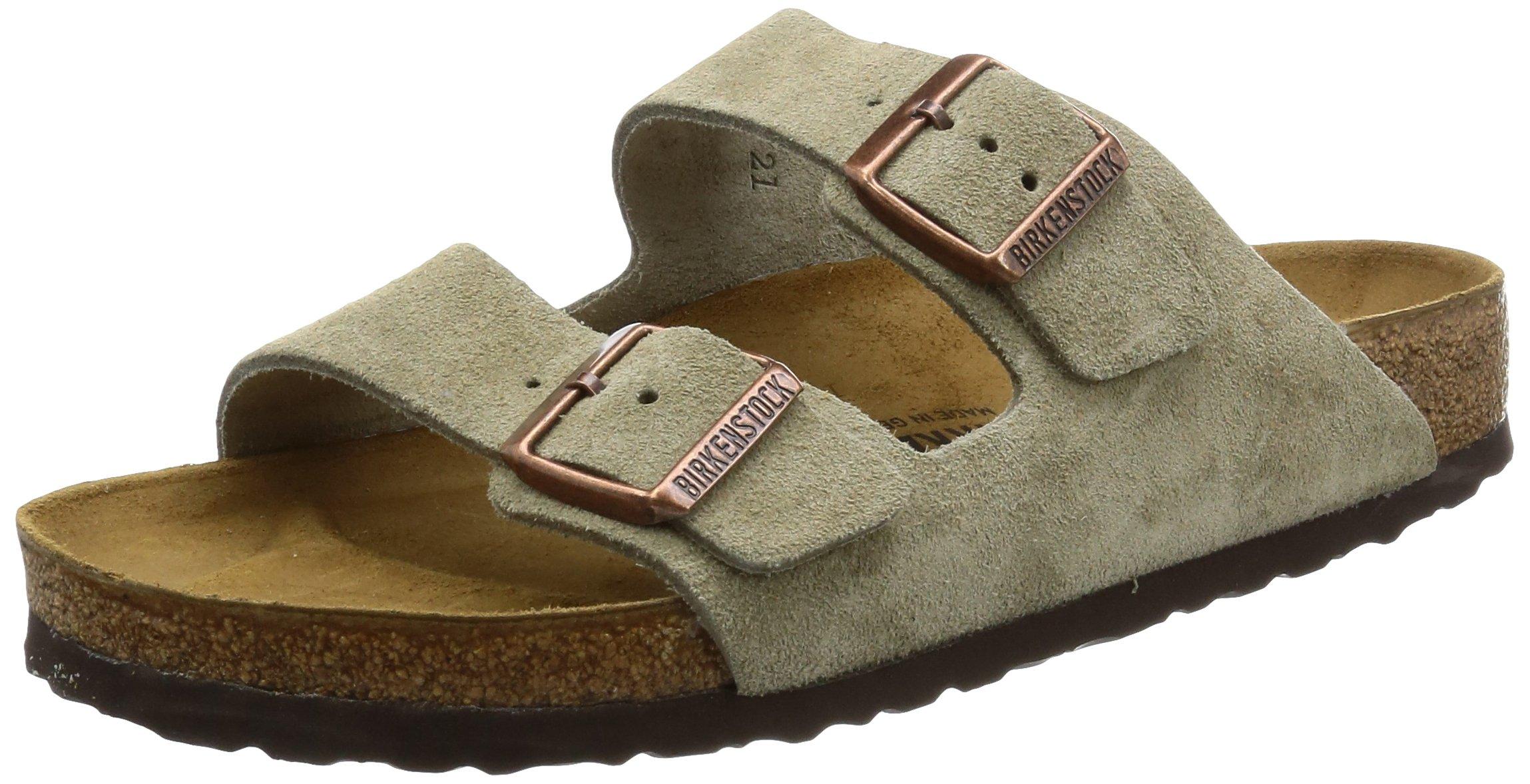 Birkenstock Women´s Arizona Taupe Suede Sandals 36 N EU N 051463