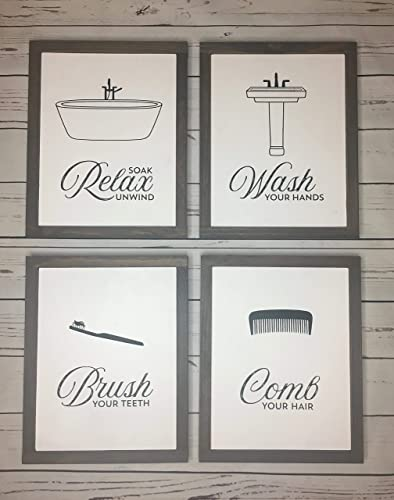 Amazoncom Funny Bathroom Signs Brush Your Teeth Sign Comb Your
