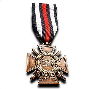 Medalla Militar el honor de cruz de la Guerra Mundial 1914/1918 Ww1 alemán Hindenburg Cruz Repro: Amazon.es: Juguetes y juegos