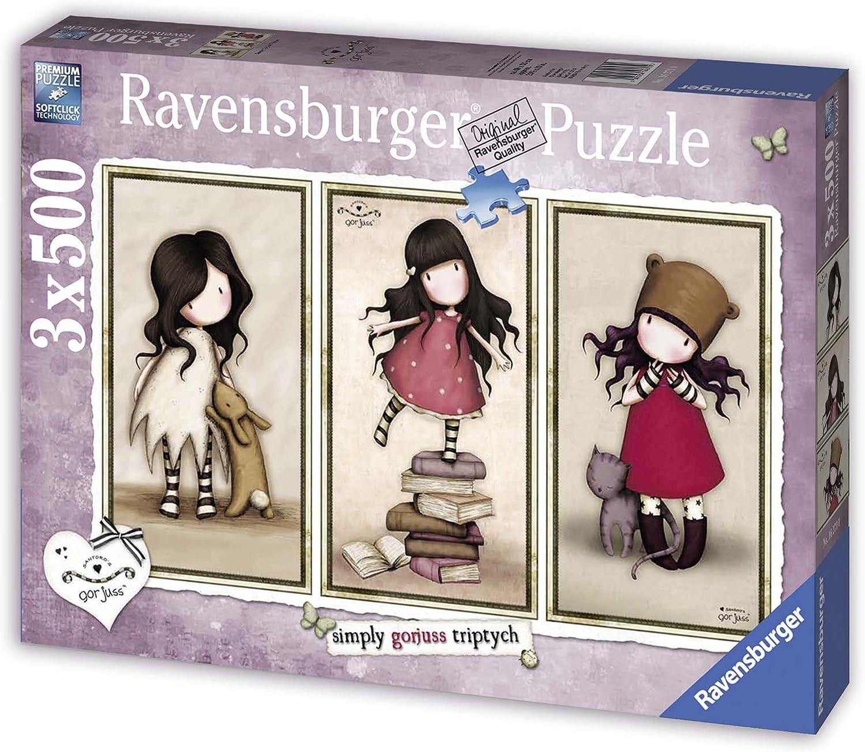 Ravensburger 16271 - Lote de 3 puzles (3 x 500 Piezas), diseño de ...