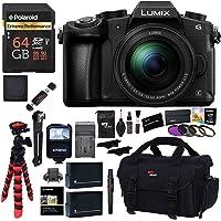 Panasonic LUMIX G85MK 4K Mirrorless Interchangeable Lens Camera Kit, 12-60mm Lens, Polaroid 64GB, 2 Spare Batteries, Charger, Bag and Accessory Bundle