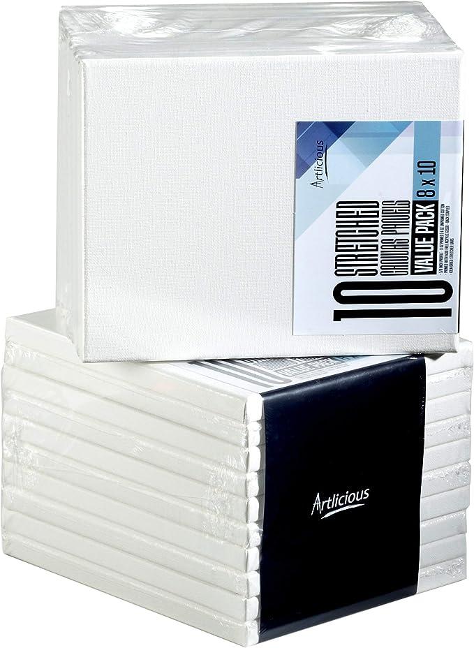 Artlicious - Lienzo de algodón extirado, para uso con acrílicos, óleos y otros productos de pintura: Amazon.es: Libros