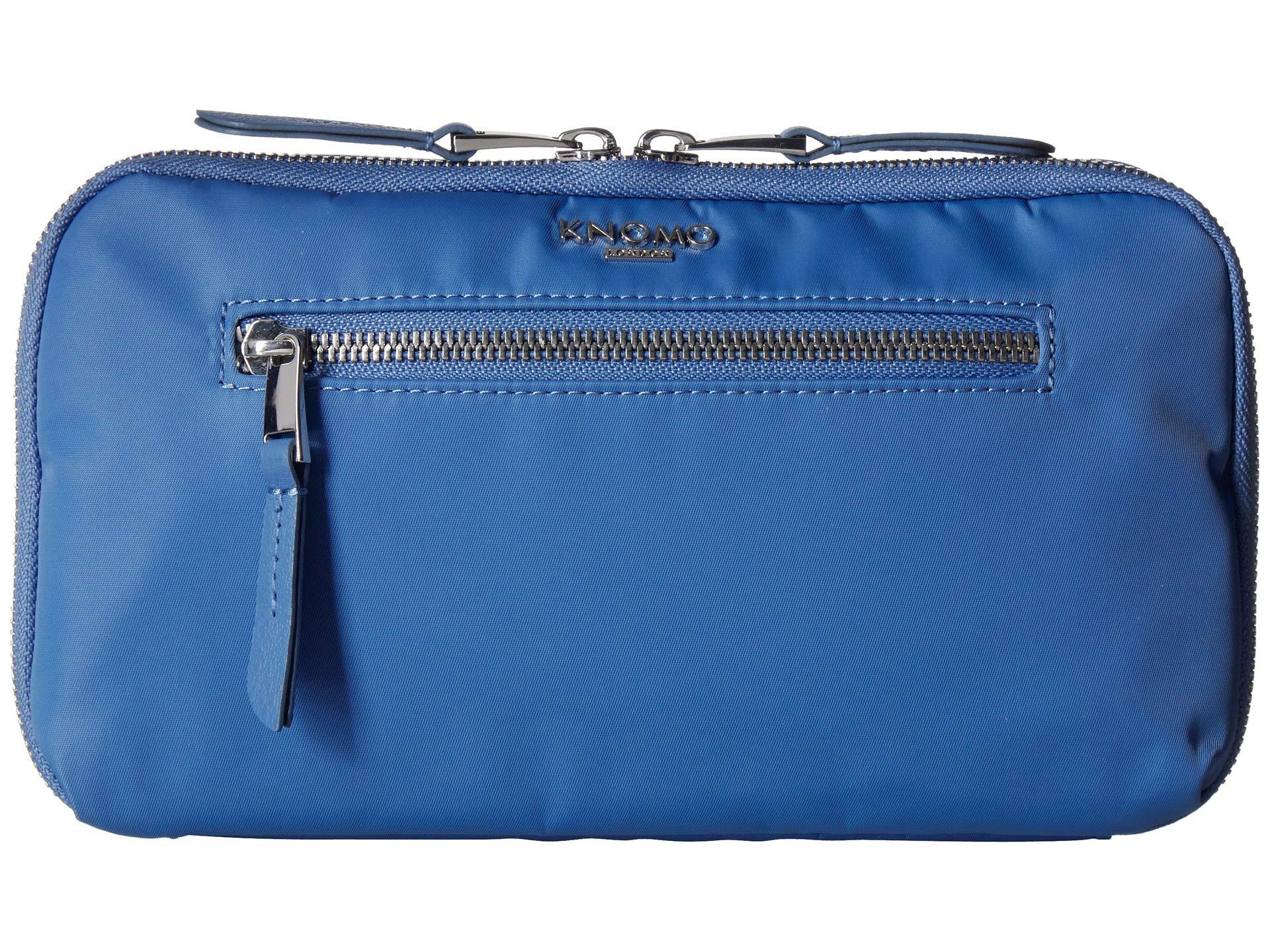 KNOMO London Unisex Knomad Travel Wallet Cornflower Blue One Size by Knomo