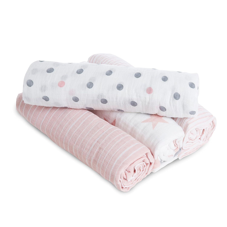 mousseline 100//% coton 4 pack anais maxi-langes aden doll