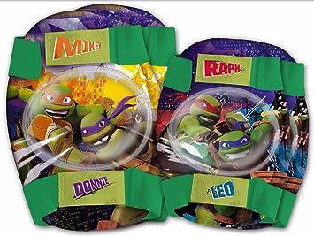 Kit Proteccion Niño Codos Rodillas compatible con Las Tortugas Ninja Bicicleta Patin 80184 6201
