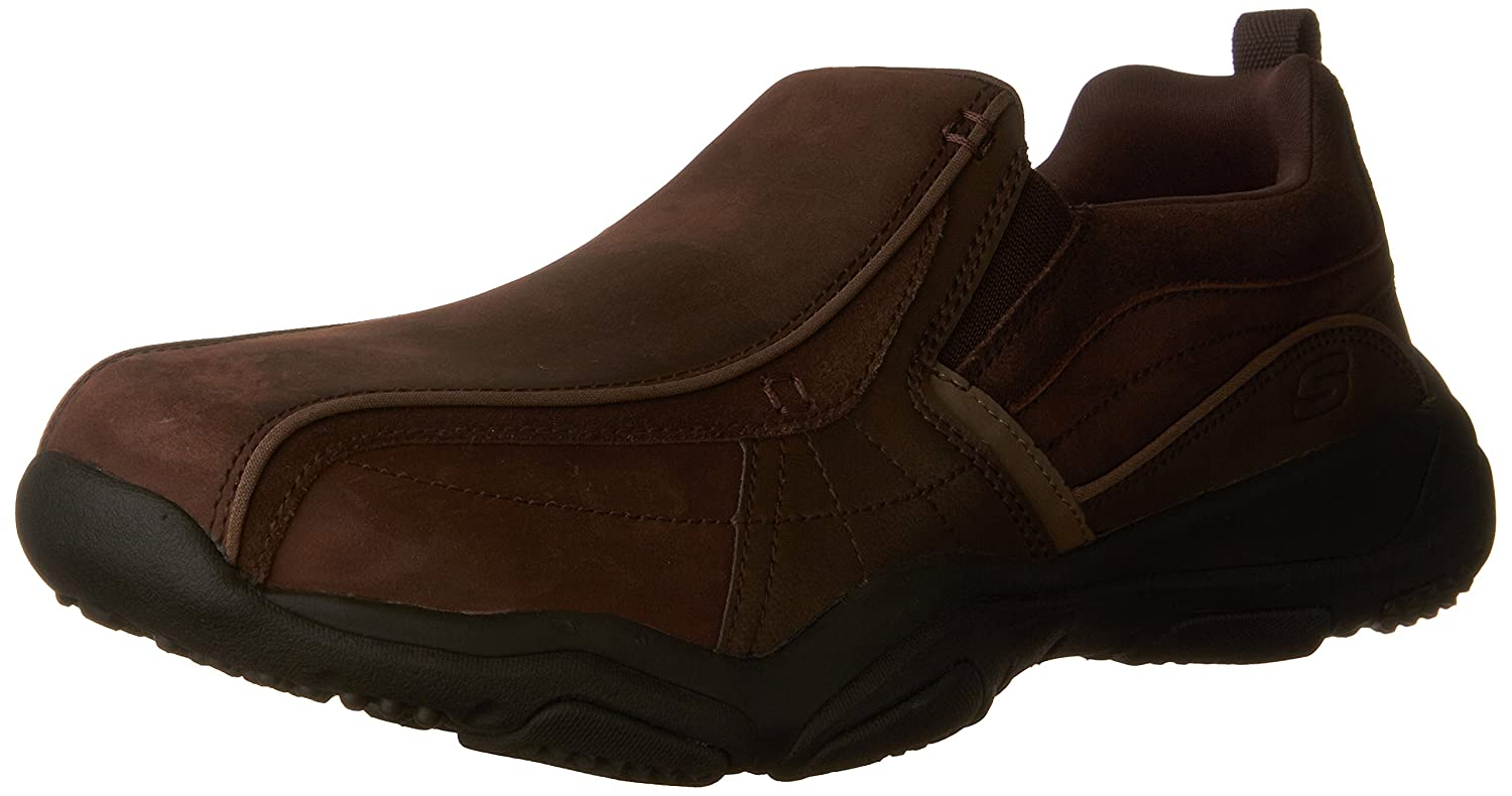 Skechers Larson-Berto, Mocasines para Hombre 44 EU|Marrón (Dark Brown)
