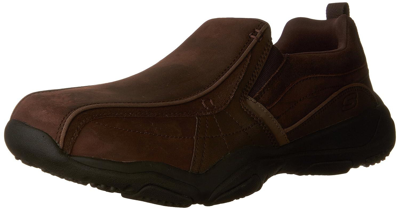 Skechers Larson-Berto, Mocasines para Hombre 48.5 EU|Marrón (Dark Brown)
