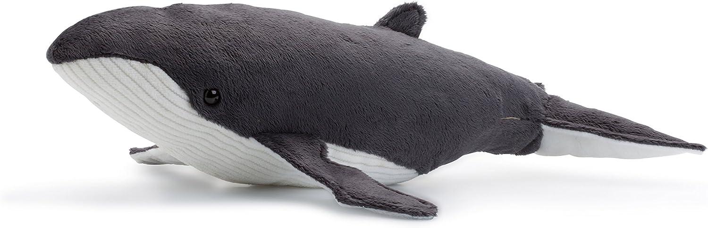 Douce et Souple Normes CE WWF Peluche Baleine /à Bosse Hauteur 33 cm Peluche R/éaliste avec Nombreux D/étails Ressemblants
