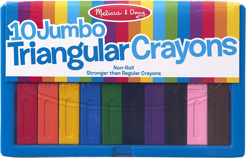 Melissa & Doug Jumbo Triangular Crayons: Melissa & Doug: Toys & Games