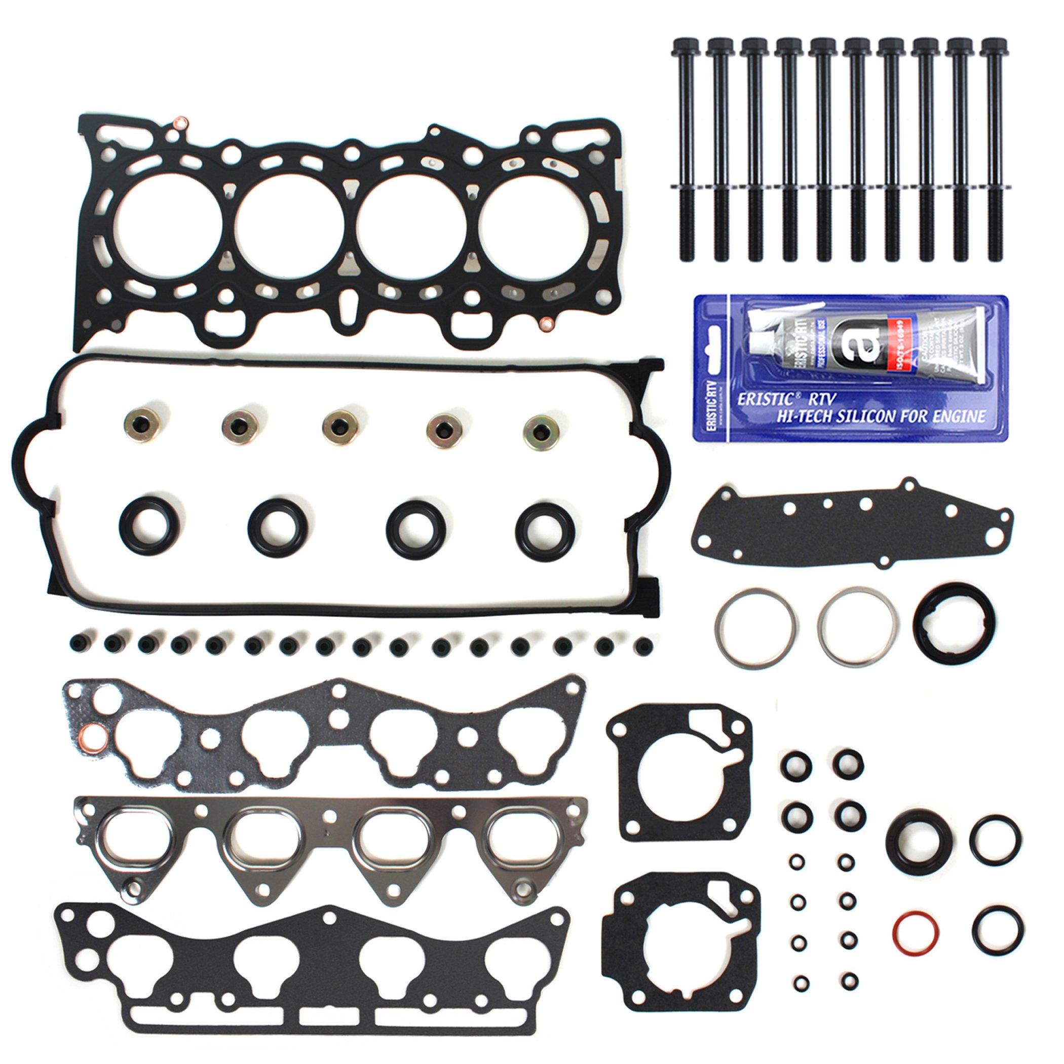 NEW HS1400HBSI MLS Head Gasket Set, Head Bolt Kit, & RTV Gasket Silicone for Honda Civic Del Sol 1.6L SOHC VTEC D16Y D16Y5 D16Y7 D16Y8