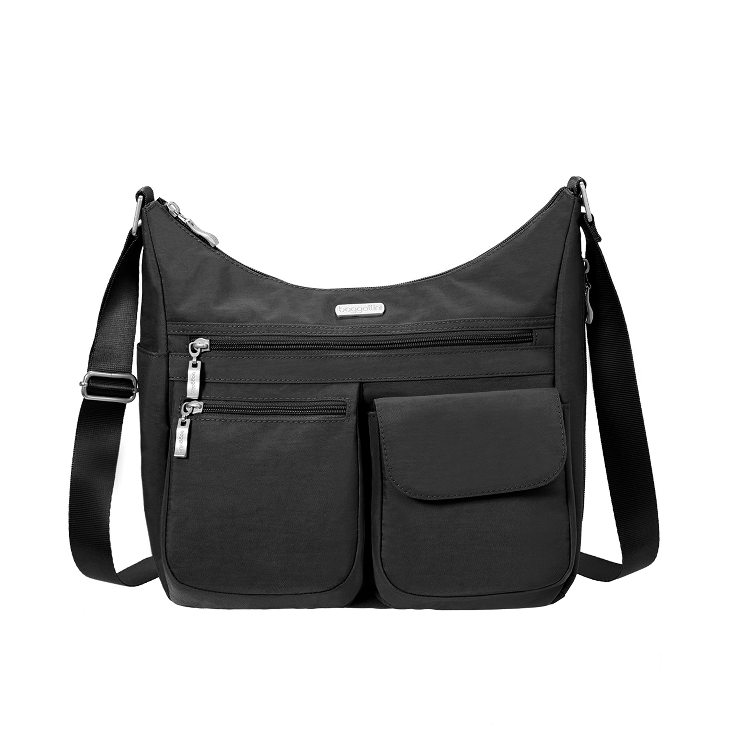 Baggallini Crossbody Bag for Women - Functional, Lightweight, Key Foab & Wristle (moss)