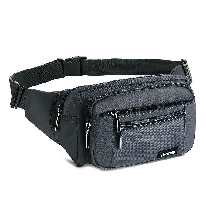 157 opinioni per FREETOO Marsupio con 5 Tasche Marsupio Bum Bag cintura regolabile singola spalla