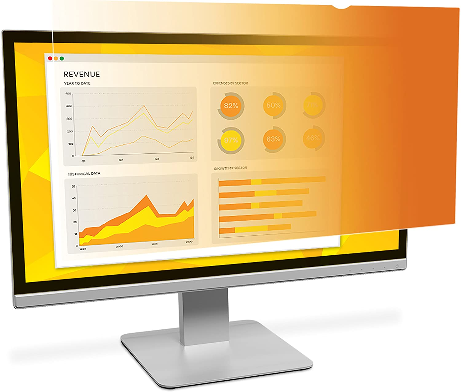 "3M Gold Privacy Filter for 24"" Widescreen Monitor (16:10) (GF240W1B)"