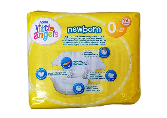 Amazing Buy Asda Little Angels Newborn Tiny Baby Diapers Size 0 Gmtry Best Dining Table And Chair Ideas Images Gmtryco