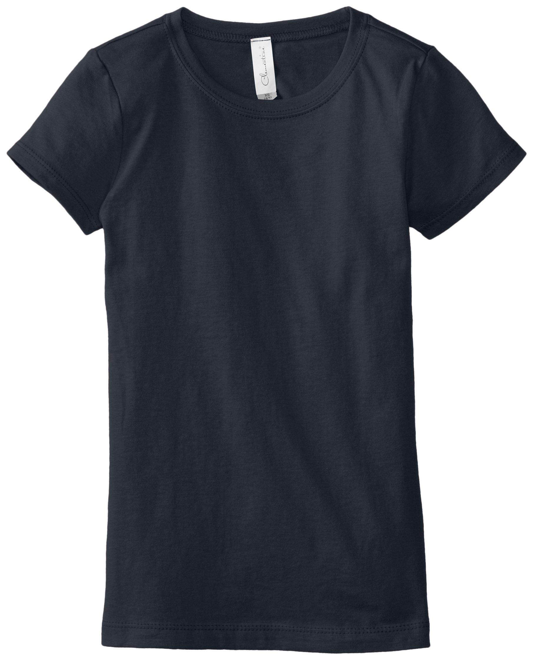 Clementine Big Girls' Everyday T-Shirt, Midnight Navy, Large(10-12)