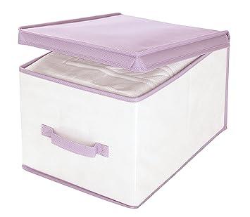 Fantastisch Amazon.de: Wenko 4610007100 Aufbewahrungsbox Lavendel L - mit Duft  EK35