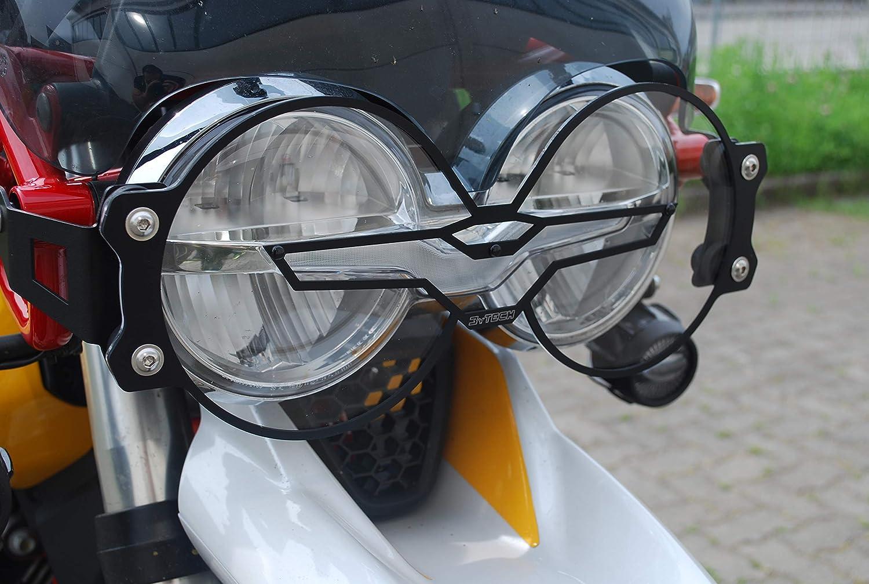 Mytech Scheinwerferschutz Schutz Für Scheinwerfer Mit Schnellverschluss Aus Polycarbonat Mit Aluminium Rahmen Moto Guzzi V85tt Schwarz Auto