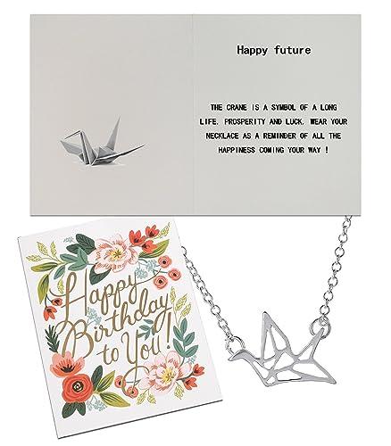 Amazon Chaomingzhen Origami Paper Cranes Pendant Necklace